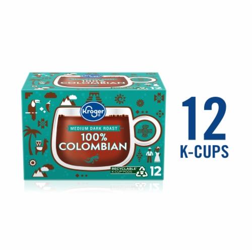 Kroger® 100% Colombian Medium Dark Roast Coffee K-Cup Pods Perspective: front