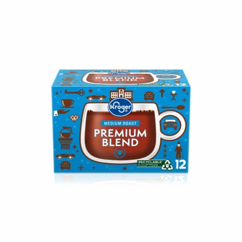 Kroger® Premium Blend Medium Roast Coffee K-Cup Pods Perspective: front