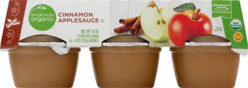 Simple Truth Organic™ Cinnamon Applesauce Cups Perspective: front