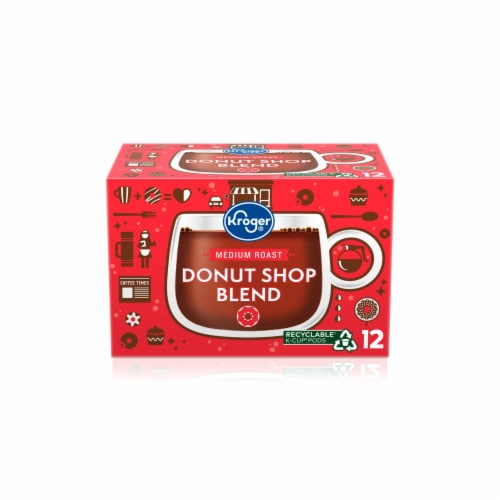 Kroger® Donut Shop Blend Medium Roast Coffee K-Cup Pods Perspective: front