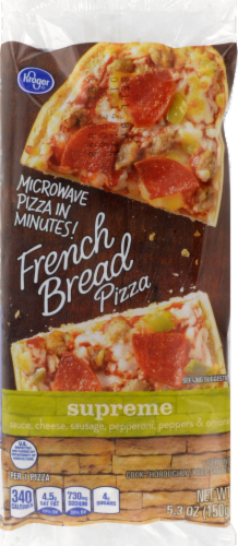 Kroger® Microwave in Minutes! Supreme French Bread Pizza Perspective: front