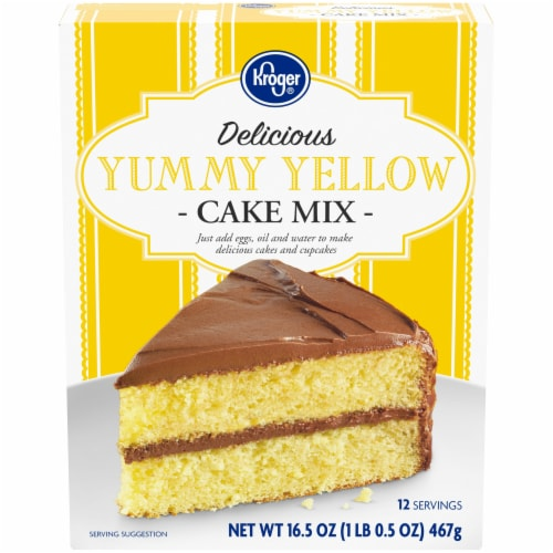 Kroger® Delicious Yummy Yellow Cake Mix Perspective: front