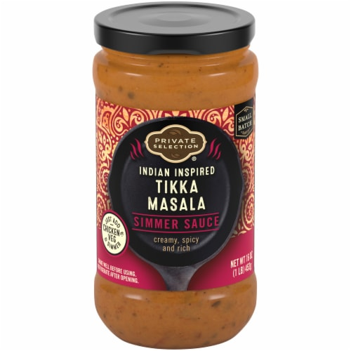 Private Selection® Indian Inspired Tikka Masala Simmer Sauce Perspective: front