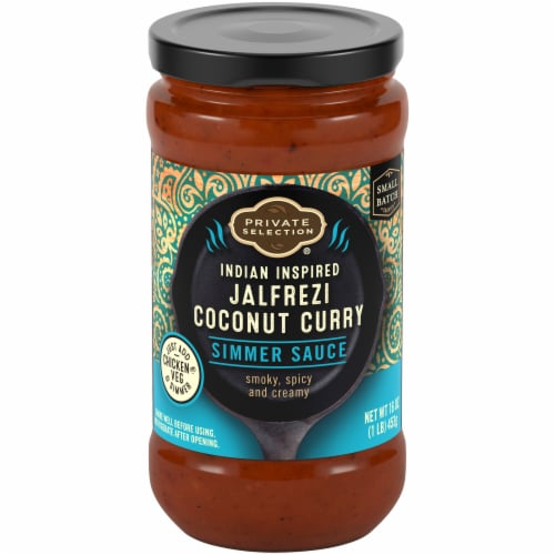 Private Selection™ Indian Inspired Jalfrezi Coconut Curry Simmer Sauce Perspective: front