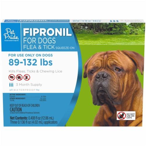 Pet Pride® Fipronil Flea & Tick Squeeze-On Applicators for Dogs Perspective: front
