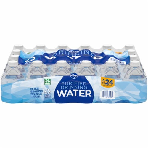 Kroger® Purified Water Mini Bottles Perspective: front