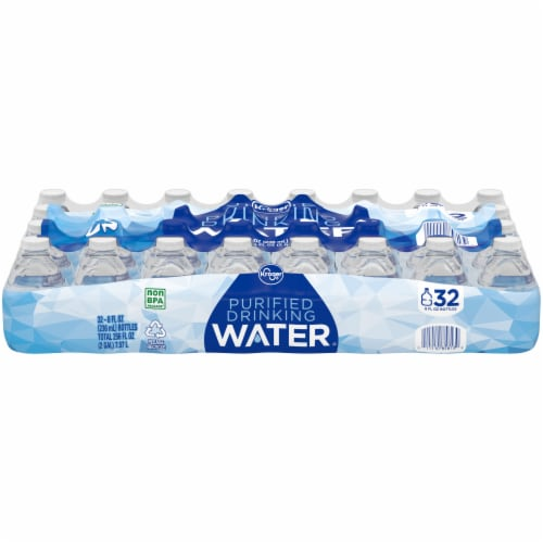 Kroger® Purified Drinking Water 32 Bottles Perspective: front