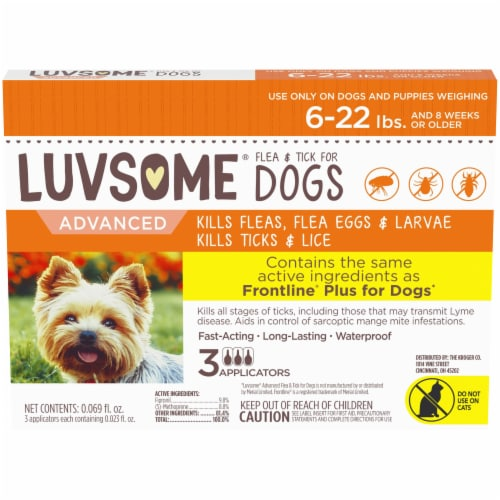 Luvsome® Dog and Puppy Advanced Flea & Tick Applicators Perspective: front