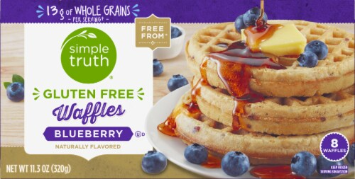 Simple Truth™ Gluten Free Blueberry Waffles Perspective: front