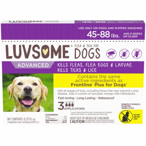 Luvsome® Advanced Flea & Tick Applicators for Dogs and Puppies Perspective: front