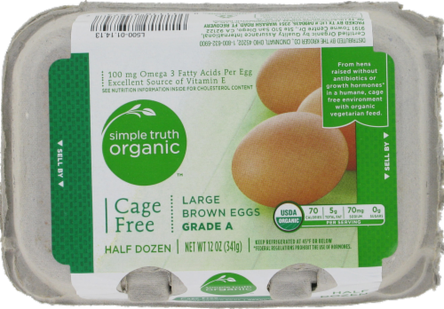 Simple Truth Organic™ Cage Free Grade A Large Brown Eggs Perspective: front