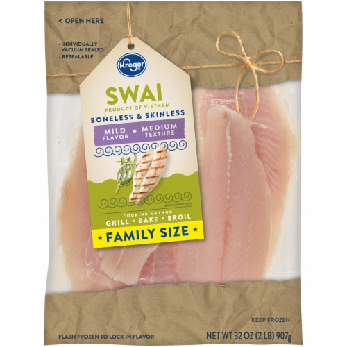 Kroger® Boneless & Skinless Swai Family Size Perspective: front