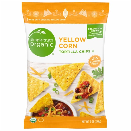 Simple Truth Organic Yellow Corn Tortilla Chips Perspective: front