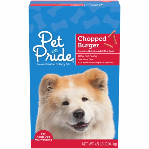 Pet Pride™ Chopped Burger Adult Dry Dog Food Perspective: front