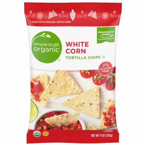 Simple Truth Organic® Gluten Free White Corn Tortilla Chips Perspective: front