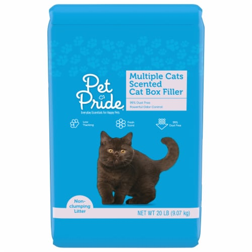 Pet Pride Multiple Cats Scented Cat Box Filler Perspective: front