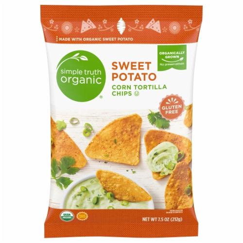 Simple Truth Organic® Sweet Potato Corn Tortilla Chips Perspective: front