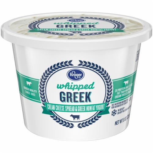 Kroger® Whipped Greek Cream Cheese Spread with Nonfat Yogurt Perspective: front