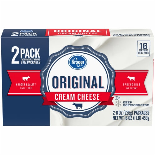 Kroger® Original Cream Cheese Perspective: front