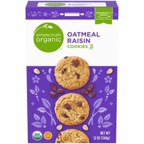 Simple Truth Organic™ Oatmeal Raisin Cookies Perspective: front