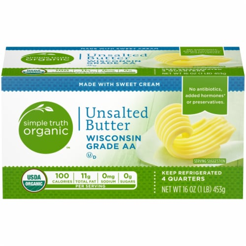 Simple Truth Organic™ Unsalted Butter Perspective: front