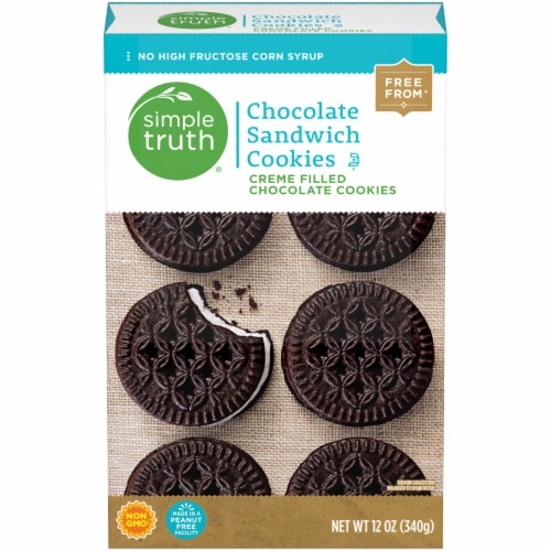 Simple Truth® Chocolate Sandwich Creme Cookies Perspective: front