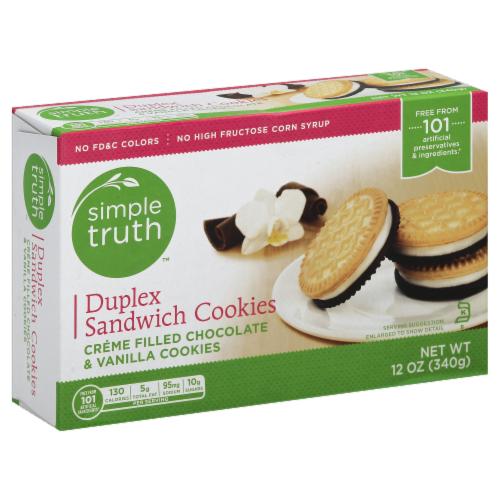Simple Truth™ Duplex Sandwich Creme Cookies Perspective: front