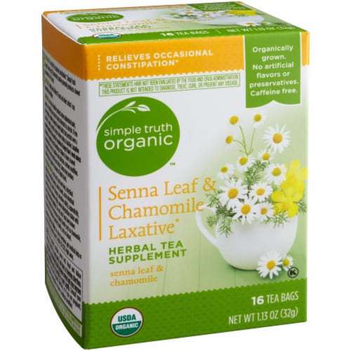 Simple Truth Organic™ Senna Leaf & Chamomile Laxative Tea Bags Perspective: front