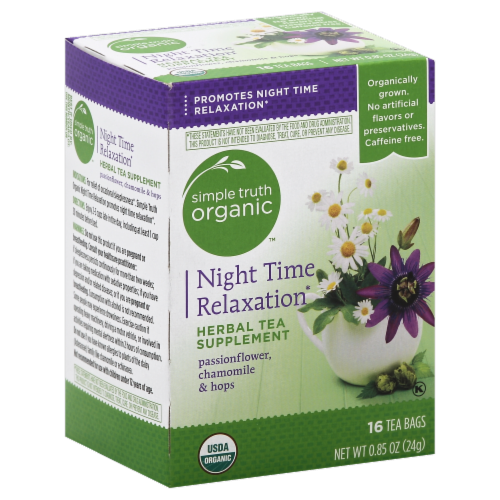 Simple Truth Organic™ Night Time Relaxation Herbal Tea 16 Count Perspective: front