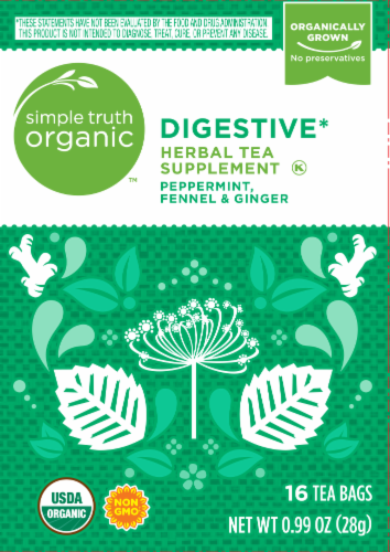 Simple Truth Organic™ Digestive Herbal Tea Perspective: front