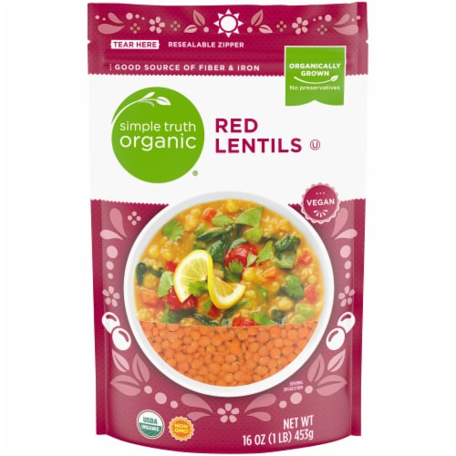 Simple Truth Organic™ Dry Red Lentils Perspective: front