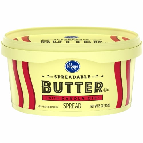 Kroger® Spreadable Butter with Canola Oil Perspective: front