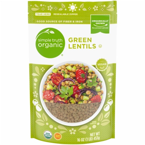 Simple Truth Organic® Dry Green Lentils Perspective: front