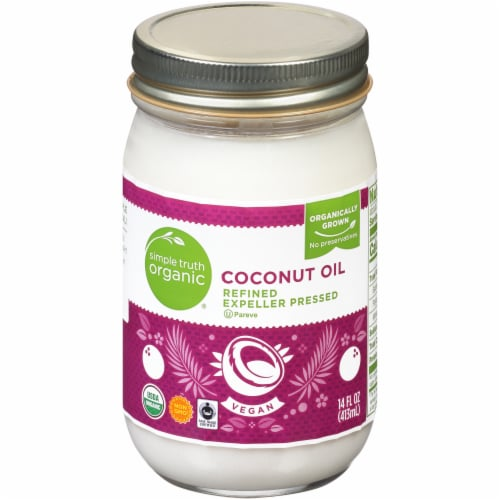 Simple Truth Organic® Refined Expeller Pressed Coconut Oil Perspective: front