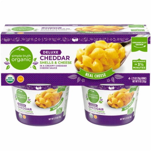 Simple Truth Organic® Deluxe Cheddar Shells & Cheese Bowls Perspective: front