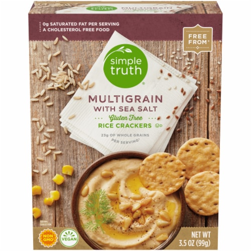 Simple Truth® Gluten Free Multigrain with Sea Salt Rice Crackers Perspective: front