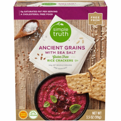 Simple Truth® 7 Ancient Grains Rice with Sea Salt Crackers Perspective: front
