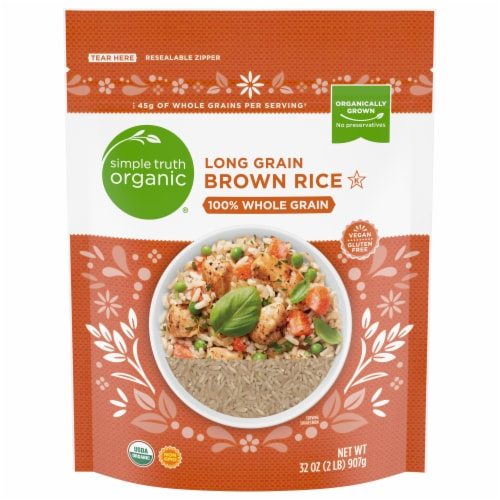 Simple Truth Organic® Long Grain Brown Rice Perspective: front