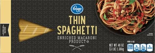 Kroger Thin Spaghetti Perspective: front