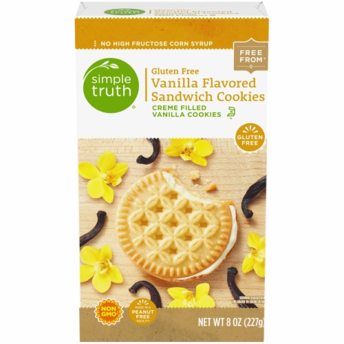 Simple Truth® Gluten Free Vanilla Flavored Sandwich Cookies Perspective: front