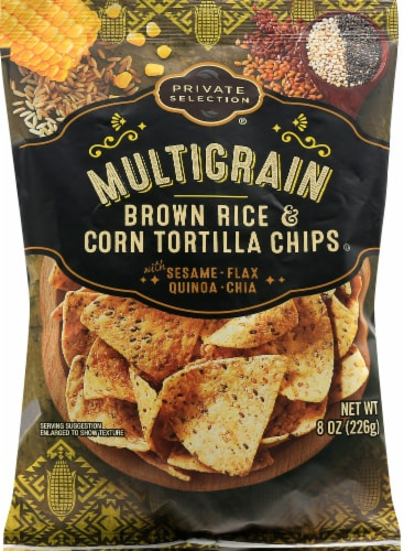 Private Selection® Really Seedy Multigrain Tortilla Chips Perspective: front