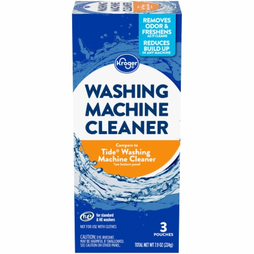 Kroger® Standard & HE Washing Machine Cleaner Pouches Perspective: front