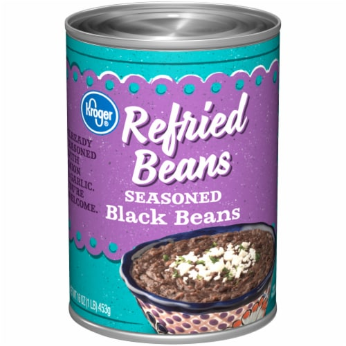 Kroger® Seasoned Refried Black Beans Perspective: front