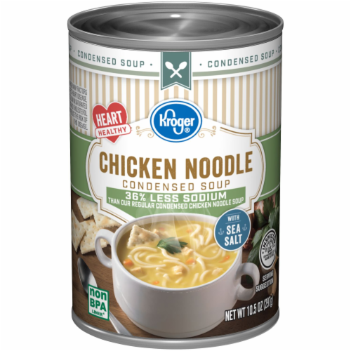 Kroger® Reduced Sodium Chicken Noodle Condensed Soup Perspective: front