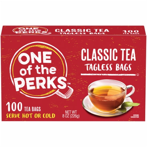 One of the Perks Classic Tagless Tea Bags Perspective: front