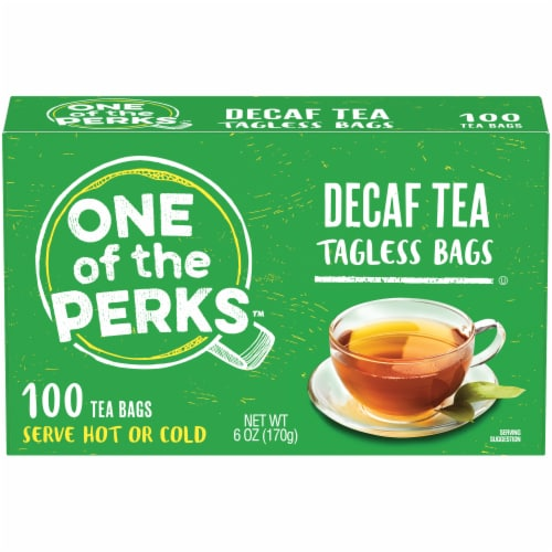 One of the Perks Decaf Tagless Tea Bags Perspective: front