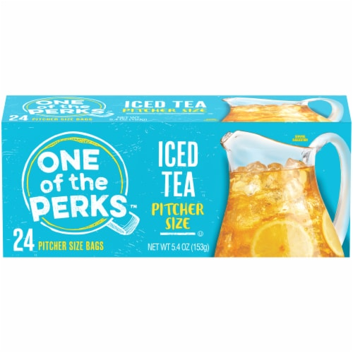 One of the Perks Pitcher Size Iced Tea Bags Perspective: front