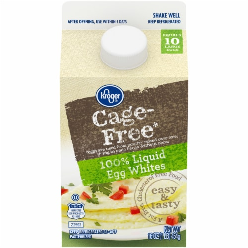 Kroger® Cage Free Liquid Egg Whites Perspective: front