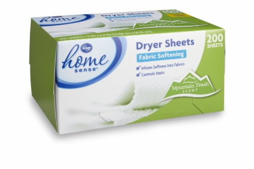 Kroger® Mountain Fresh Scent Fabric Softening Dryer Sheets Perspective: front