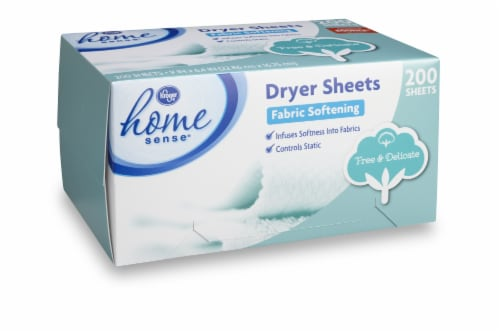 Kroger® Home Sense® Free & Delicate Fabric Softening Dryer Sheets Perspective: front